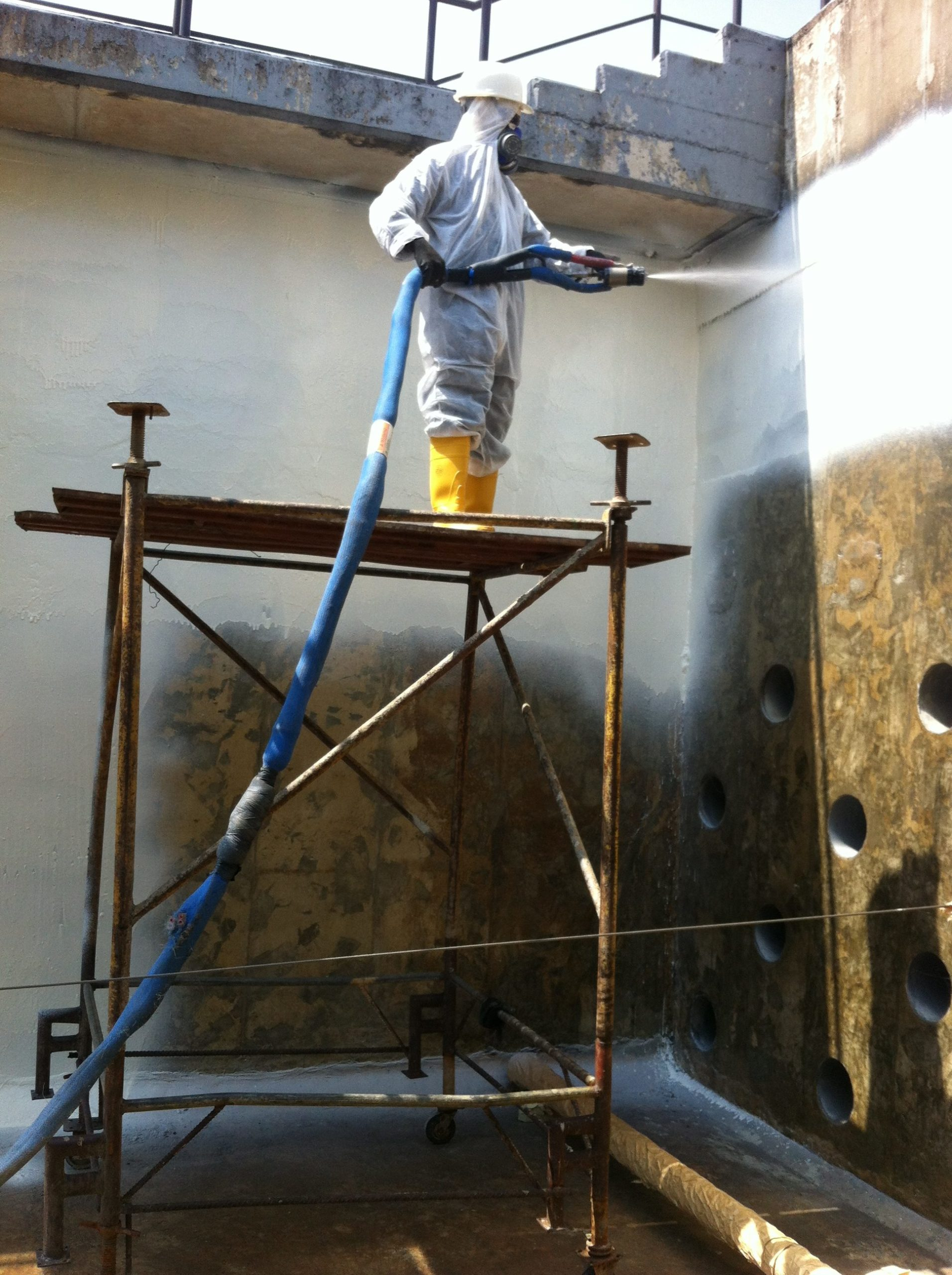 Polyurea Application at Enugu State Water Treatment Plant