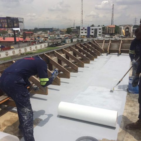 Polyurethane Waterproofing Project at Leadway Protea Hotel Maryland.